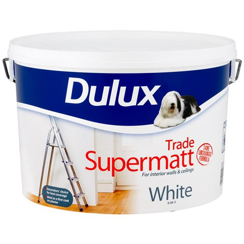 Dulux Supermatt for interior walls & ceilings.