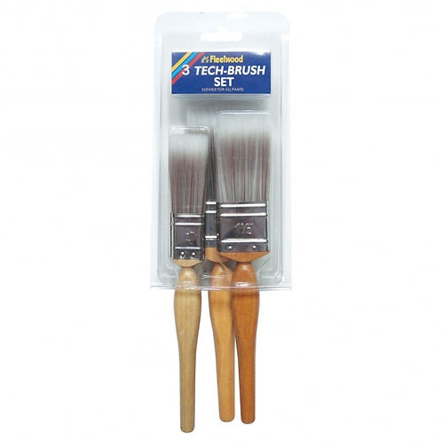Fleetwood Tech Brush Set 3pk