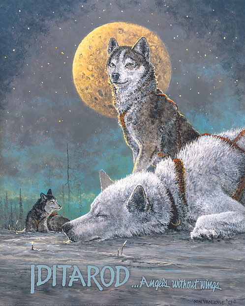 """""""Angels Without Wings"""" 2021 Iditarod Poster"""