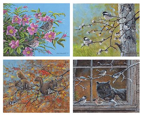 "Art Portfolio - Series #1: 2021 ""Curious Critters"" - All 4 prints"