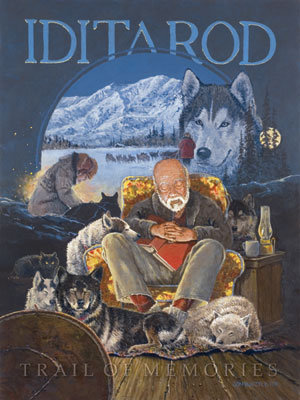 "2011 Iditarod Poster ""Trail of Memories"""