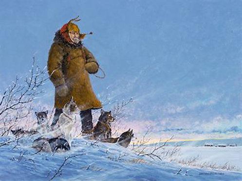 "2018 Official Iditarod Print ""Maggies Light"""