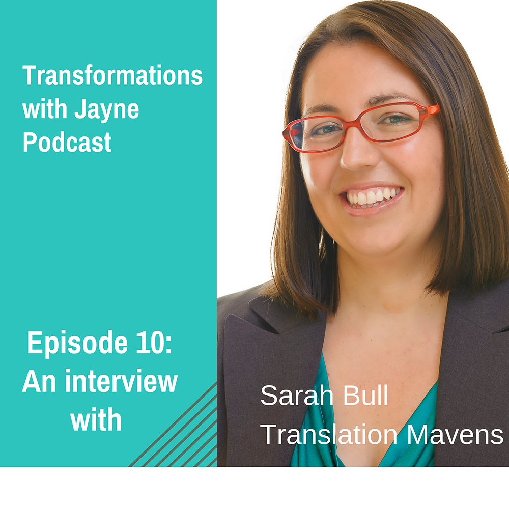 Podcast episode 10 Sarah Bull for Transformation podcasts