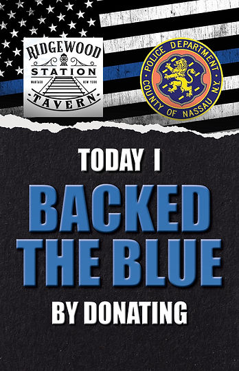Back the Blue Retractable Sign