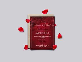 Red Night Sky Sweet Sixteen Invite_Mocku