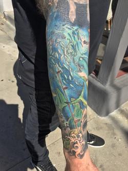 Sam's underwater half sleeve