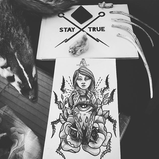 creepySEXYpowerfulWOMAN _IMAGES I WANT TO TATTOO!!_illustrations for sale also_🌜SWIPE FOR MORE🌵_✨b