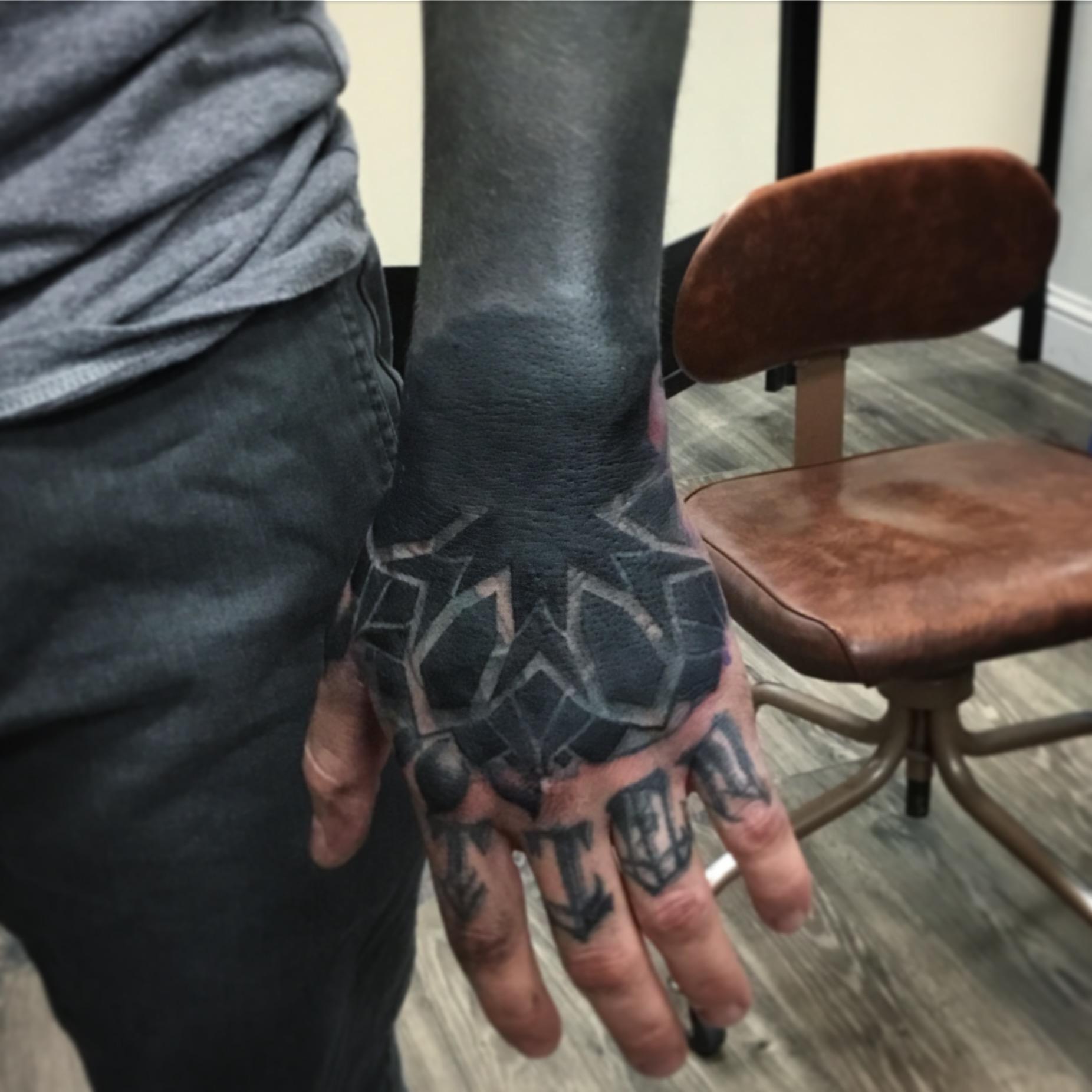 Josh's hand