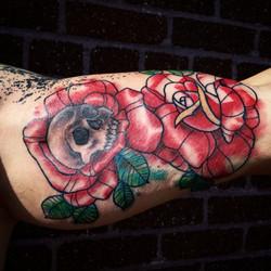 Greg's roses tattoo