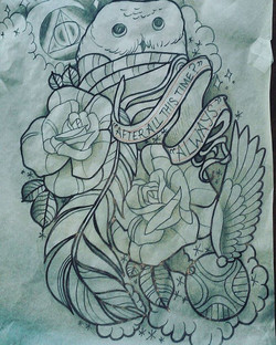 Drawing for a half sleeve for sale! Would also make a great leg or side piece