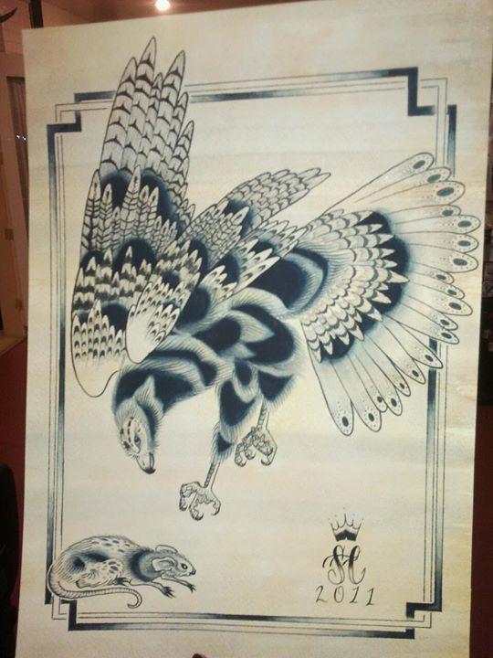 Watercolor hawk