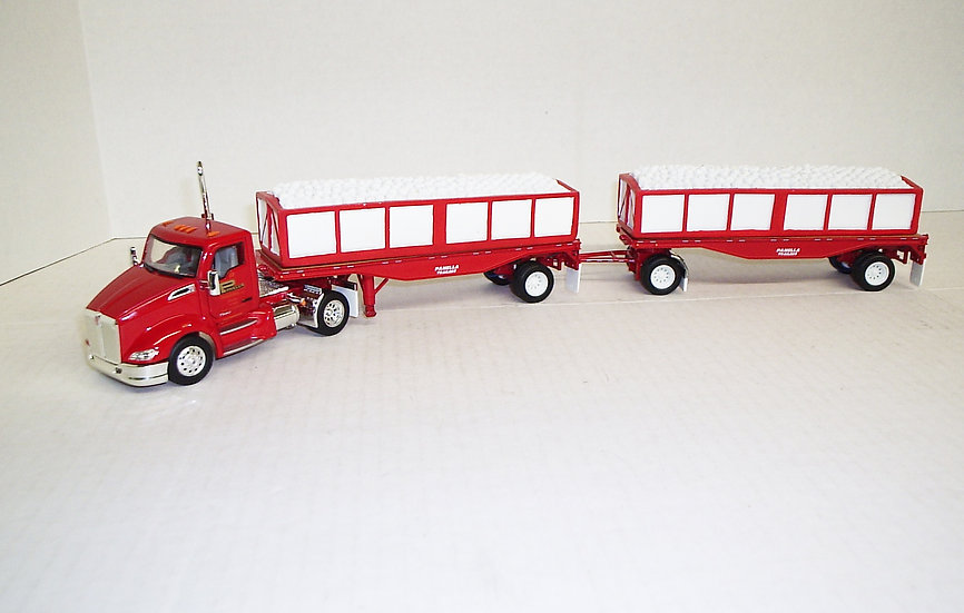 1/53 Kenworth T680 W/ Set of Double Trailers, Panella Trucking