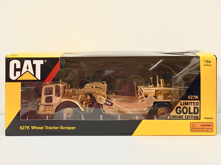 TR 1/50 Caterpillar 627K Wheel Scraper W/ Gold