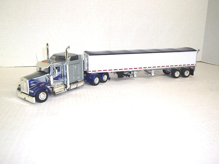 """1/53 Kenworth W900L w/ 72"""" Sleeper w/ Semi Grain"""