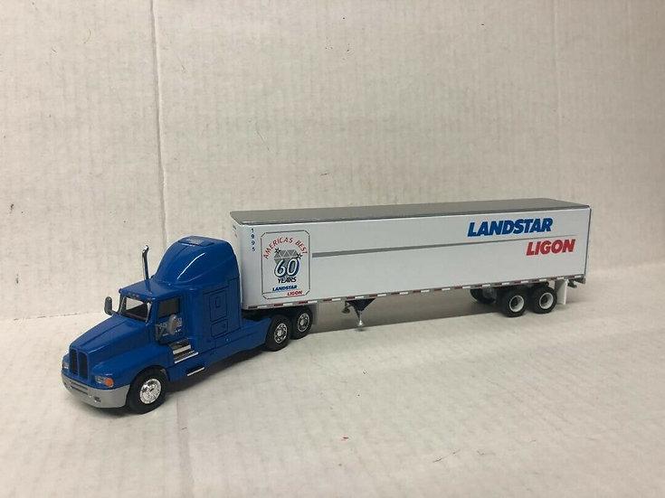 1/64 Kenworth T600 Sleeper W/ 45' Van, Landstar Ligon