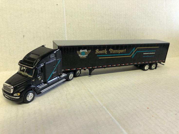1/64 Freightliner Columbia Sleeper 53' Dry Van, Smith Transport