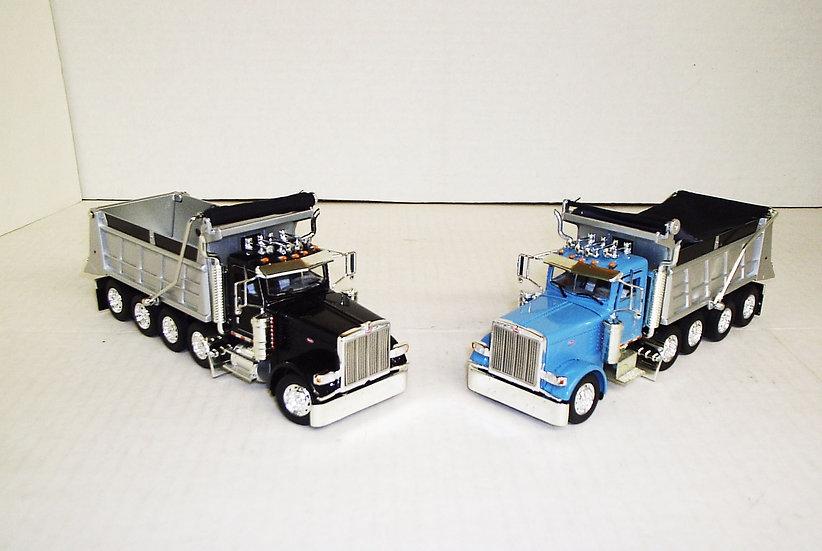 1/53 Set of Peterbilt Dump Trucks