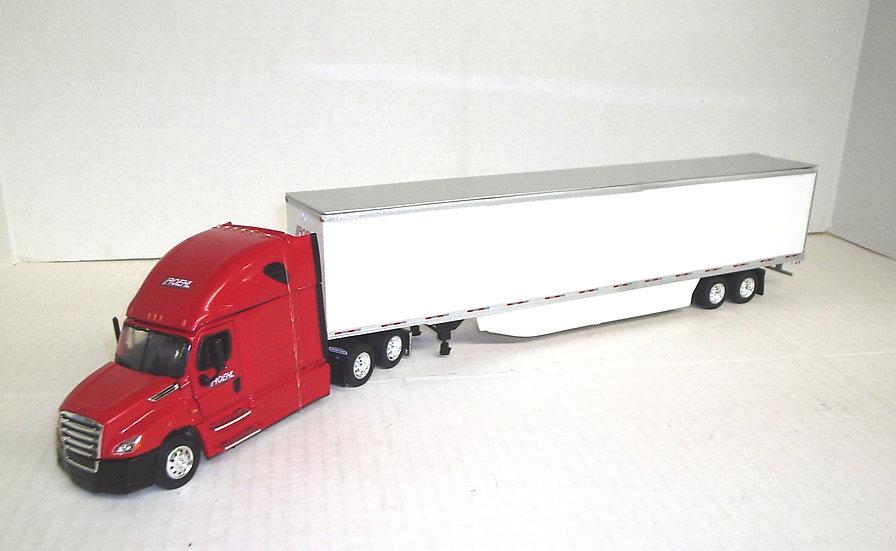 1/53 Freightliner Cascadia Sleeper 53'Dry Van, Roehl Transport