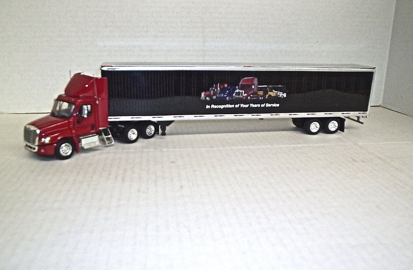 1/53 Cascadia Daycab w/ Freightliner Advertising Van, Red