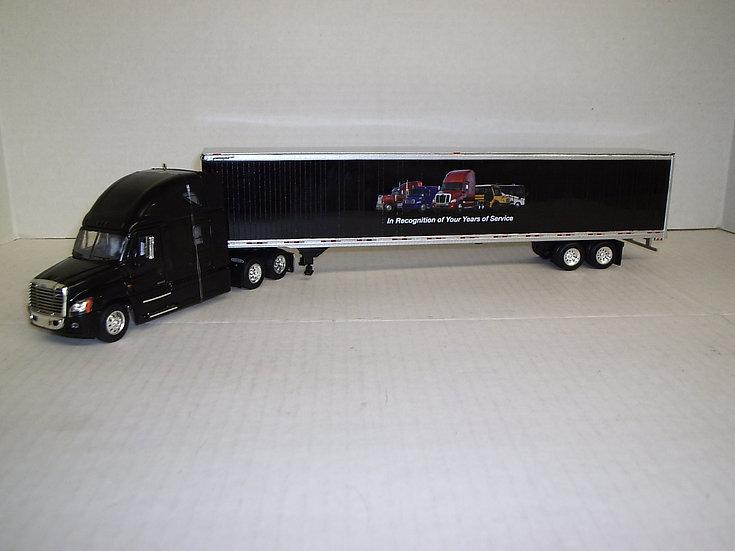 1/53 Freightliner Cascadia High Roof Sleeper W/ 53' Van, Black