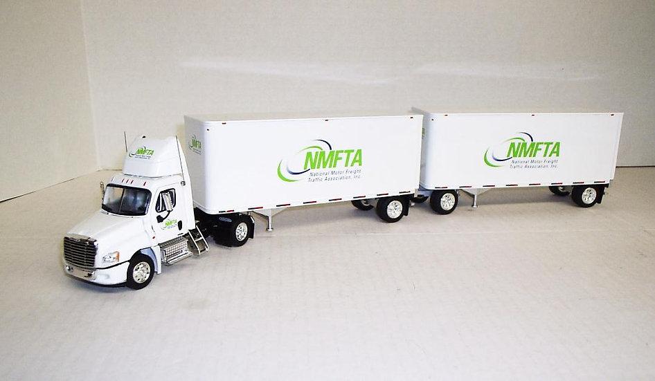 1/53 Freightliner Cascadia Daycab W/ Double Vans, NMFTA
