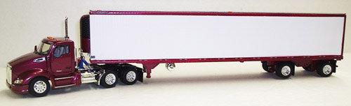 1/53 Kenworth T680 W/ Spread Axle Reefer Van, Radiant Fire Red