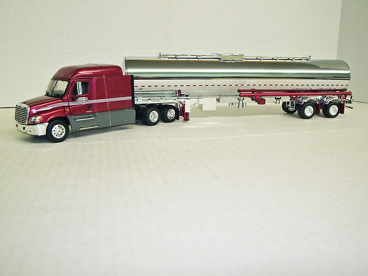 1/53 Feightliner Cascadia Midroof Sleeper W/ Semi Grain Trailer, BRT