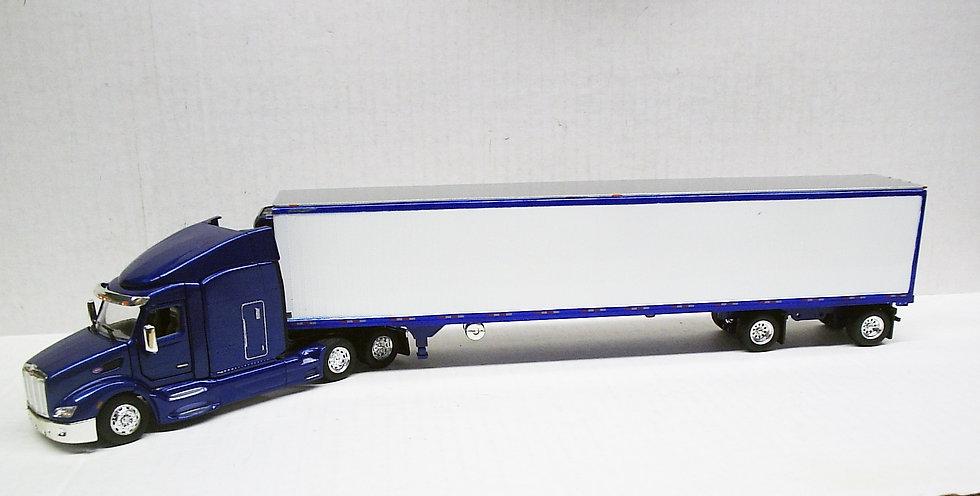 1/53 Peterbilt 579 W/ Spread Axle Reefer Van, Dark Metallic Blue