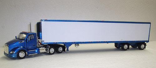 1/53 Kenworth T680 W/ Spread Axle Reefer Van, Blue Metallic