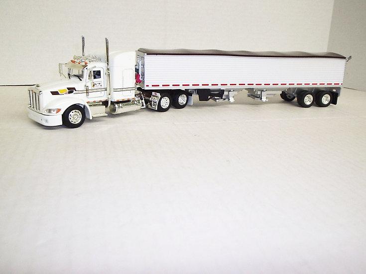 "1/53 Peterbilt 386 W/ 48"" Standup Sleeper W/ Semi Grain Trailer, GM&D"