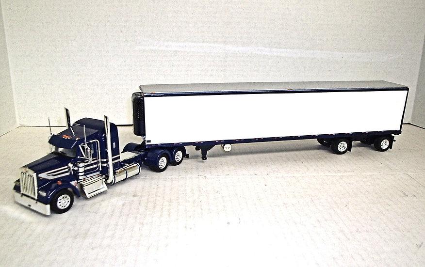 "1/53 Kenworth W900L w/ 38"" Sleeper w/ 53' Spread Axle Van"