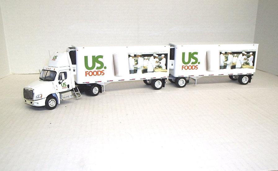 1/53 Cascadia Daycab Set of Double Reefer Vans, US Foods
