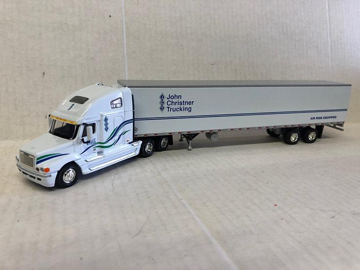 1/64 Freightliner Century Sleeper 53' Reefer Van , John Christner Trucking