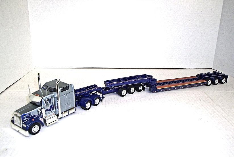 """1/53 Kenworth W900L w/ 72"""" Sleeper w/ Lowboy & Jeep"""