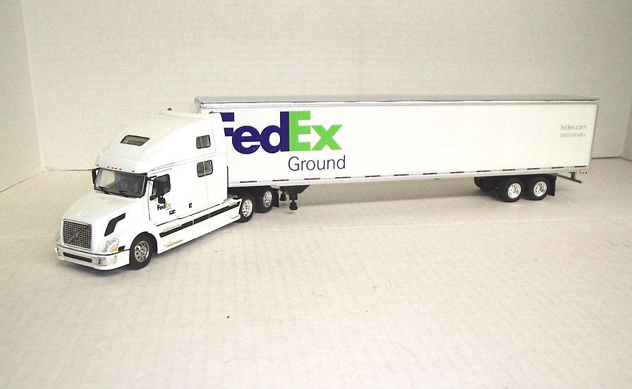 1/53 Volvo 780 Sleeper 53' Dry Van, FedEx Ground