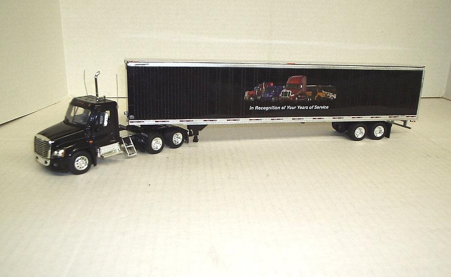 1/53 Cascadia Daycab w/ Freightliner Advertiser Van, Black