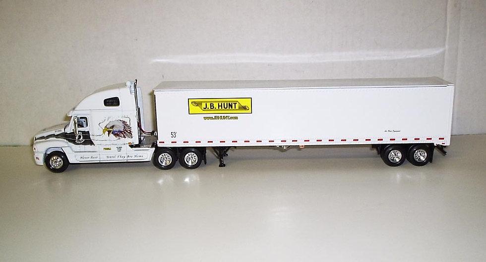 1/64 J.B. Hunt Freightliner Century Sleeper W/ Dry Van