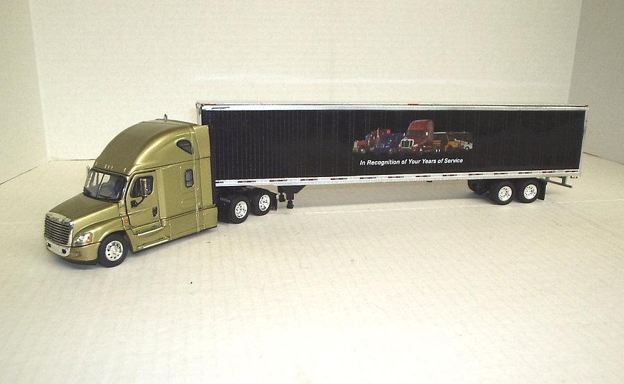 1/53 Cascadia Sleeper w/ Freightliner Advertiser Van, Bronze Gold