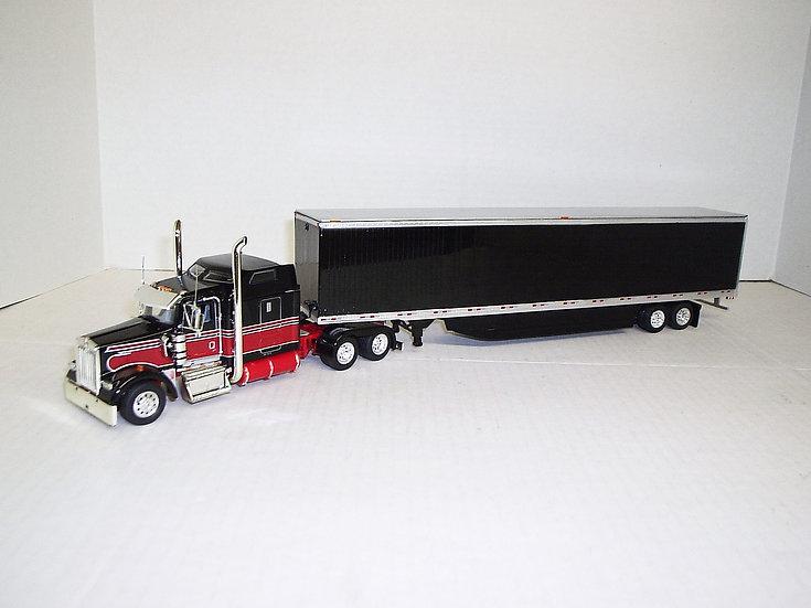 """1/53 Kenworth W900L w/ 72"""" Sleeper w/ 53' Dry Van"""