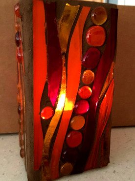 Mosaic Hurricane Lamps