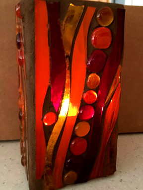 Mosaic Hurricane Lamps