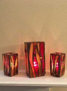 Hurricane Lamp (Fire set Trio)