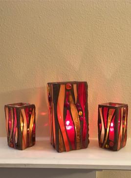 Hurricane Lamp (Fire set Trio)