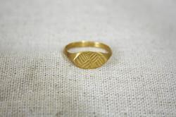 טבעת קרני החמה זהב