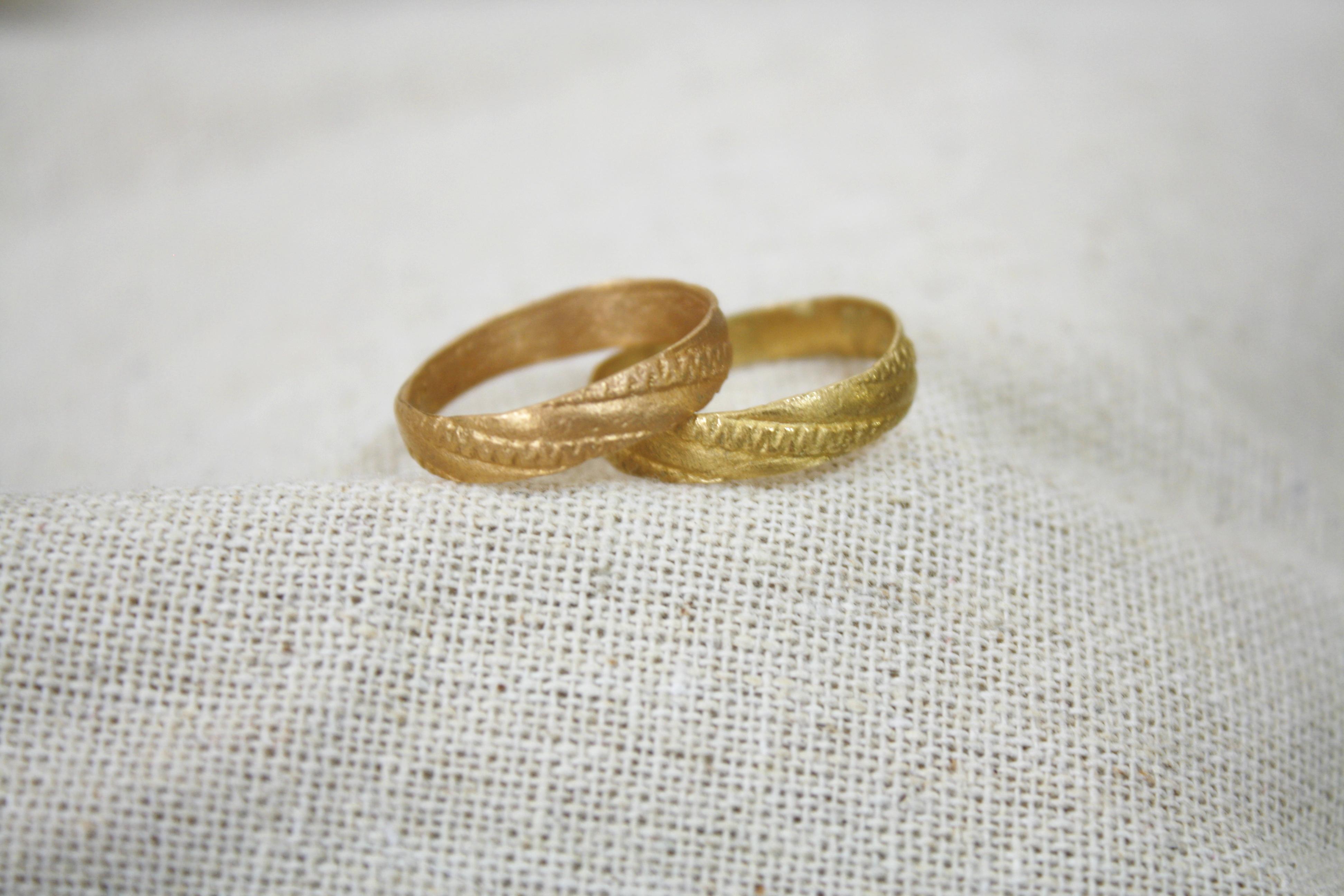 טבעת שדות חיטה זהב אדום וצהוב