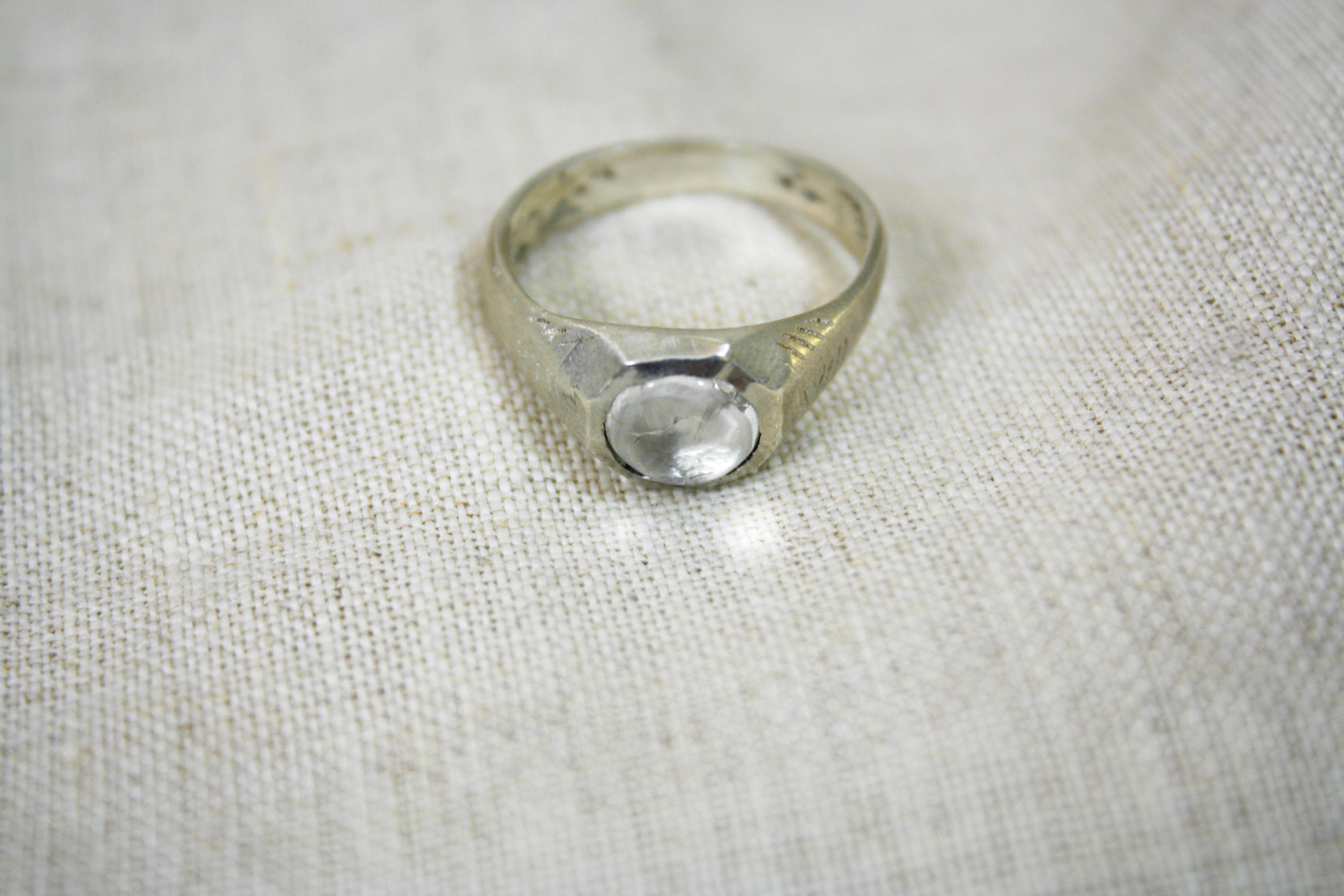 טבעת בארות מים מתוקים קווארץ וכסף