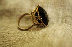 טבעת זהב וסמוקי טופז