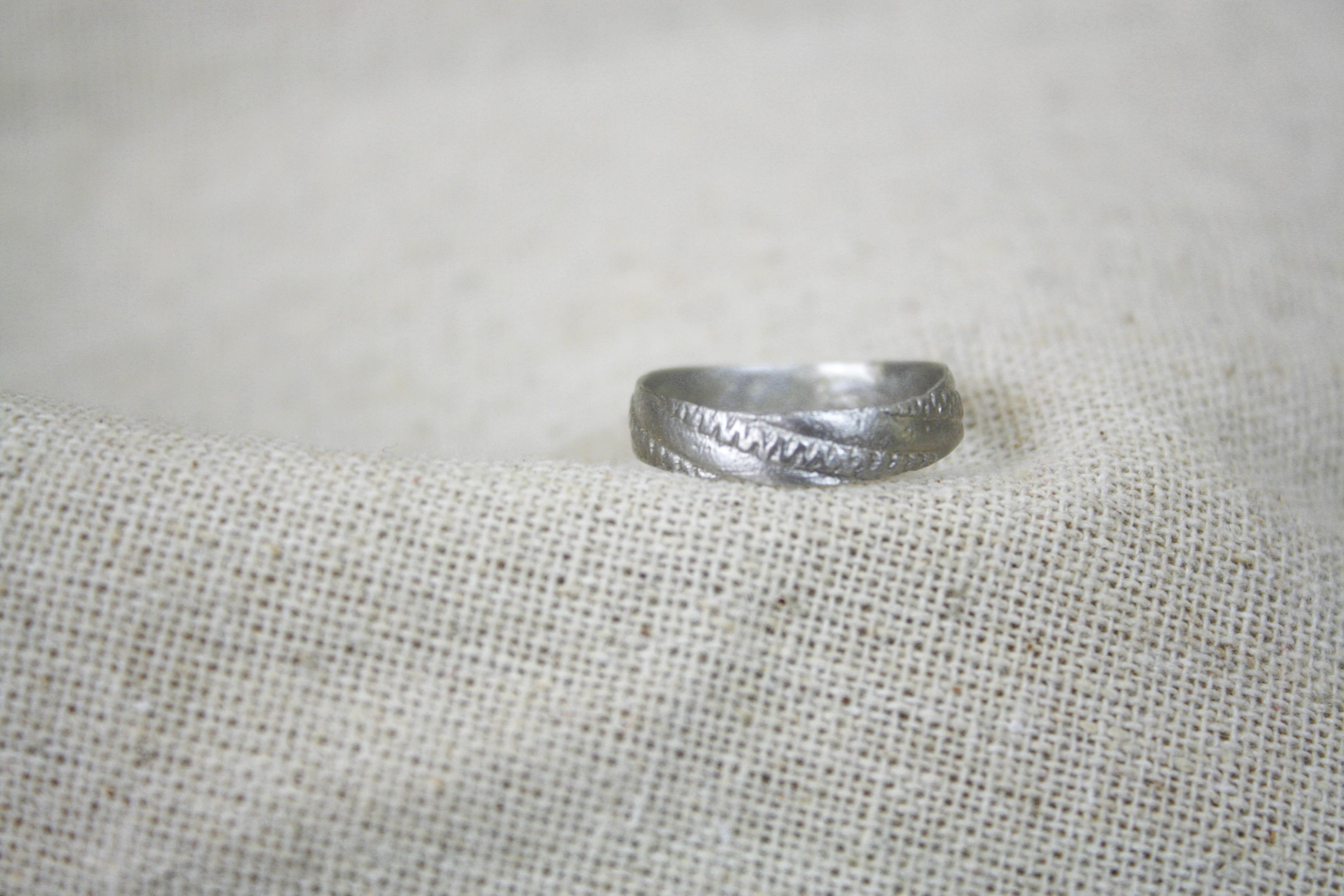 טבעת שדות חיטה זהב לבן