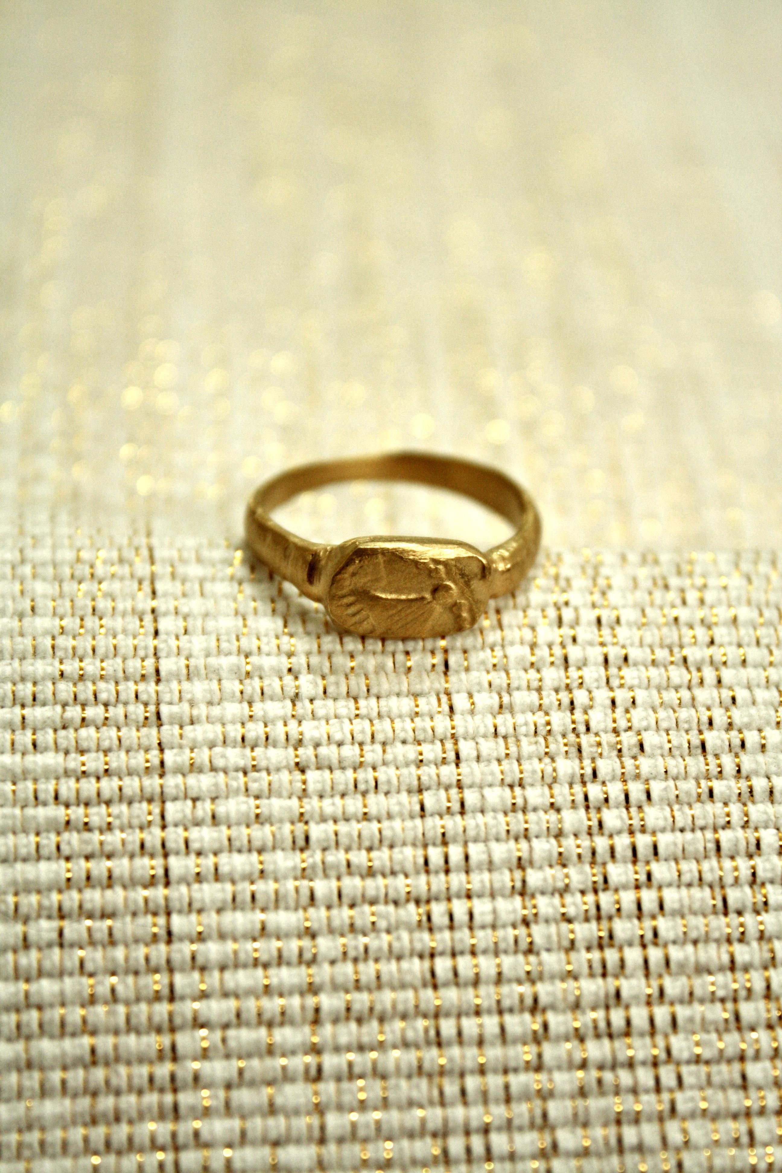 טבעת זהב רוח חשמונאים