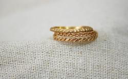 טבעת צמה, טבעת כלה צוענית, טבעת נסיכה פרסית זהב אדום